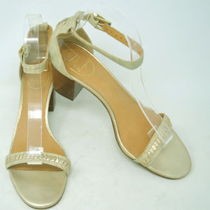 Jack Rogers Women's Gold Ankle Strap Heel Sandals
